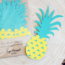 large pineapple die cuts set of 12 paper cut outs thecloudfactory