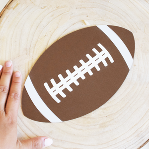 large football die cut brown white sports paper cut out cardstock