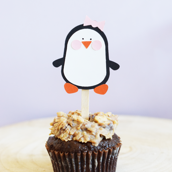 Penguin Cupcake Toppers - Set of 12