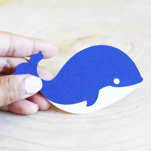 Small Whale Die Cuts - Set of 12