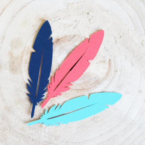 Mini Feather Die Cuts - Set of 48