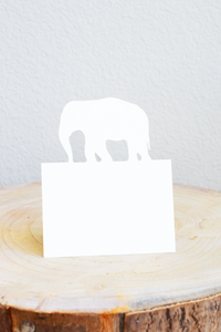 White Elephant Placecards - Set of 12
