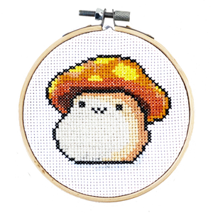 maplestory orange mushroom computer game cross stitch diy craft kit