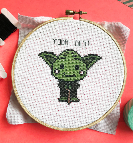 Yoda Best - DIY Cross Stitch Kit