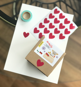 Heart Envelope Seals - 5 Sheets