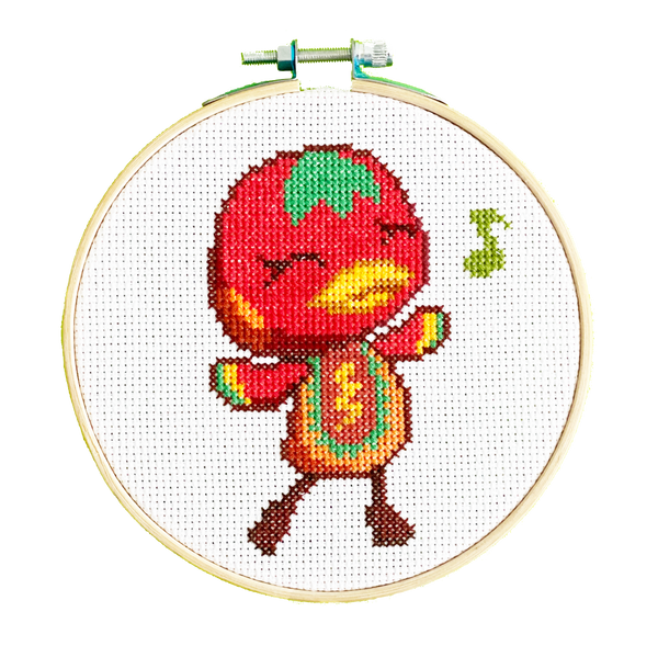 Ketchup From Animal Crossing - DIY Cross Stitch Kit