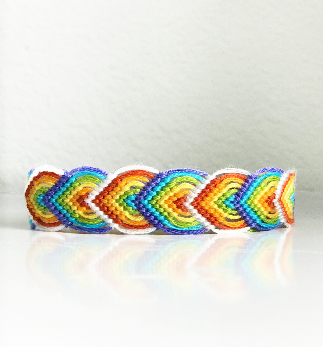 Rainbow Leaf Friendship Bracelet - DIY Kit