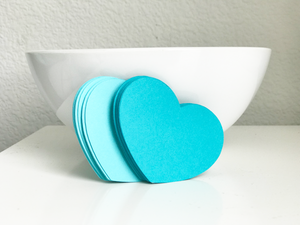 32 Heart Die Cuts (2.5 inches), Choose Color