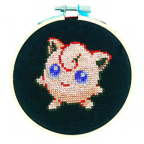 Jigglypuff pokemon cross stitch diy craft kit singing karoake