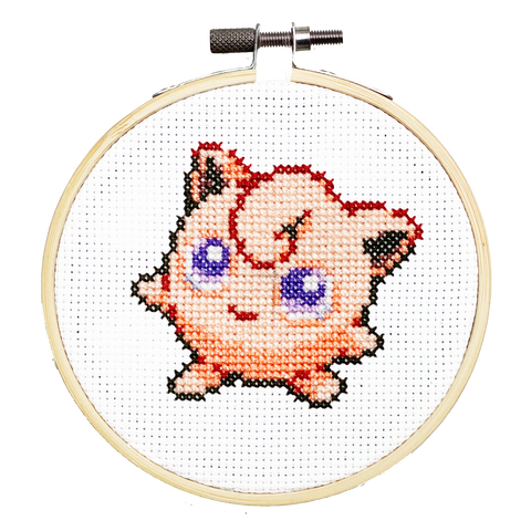 Jigglypuff - DIY Cross Stitch Kit