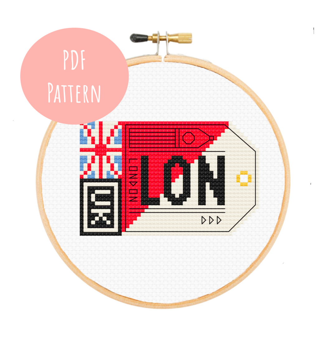 London Postage Cross Stitch - PDF Instructions
