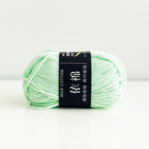 Japanese Soft Cotton Yarn - Mint, 50g