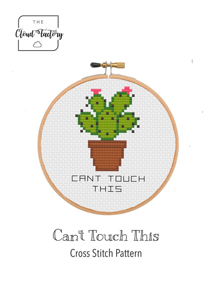Can't Touch This Cactus - DIY Cross Stitch Kit