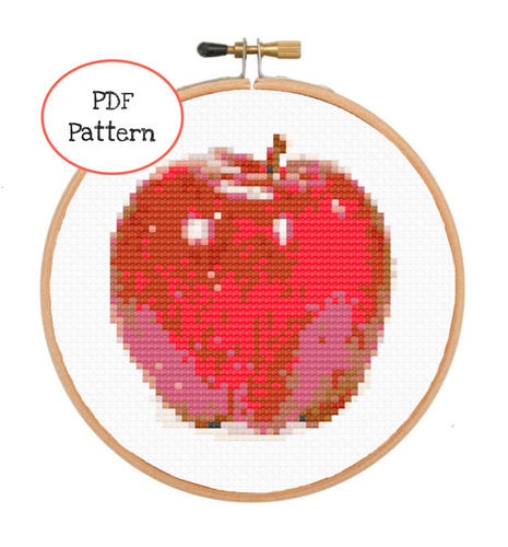 An Apple a Day Cross Stitch - PDF Instructions
