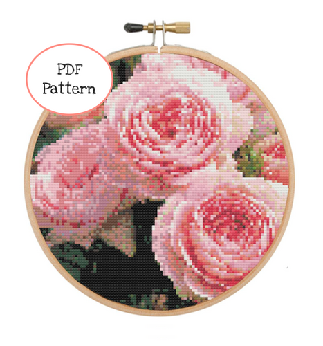 The Rose 🌹 Bush Cross Stitch - PDF Instructions