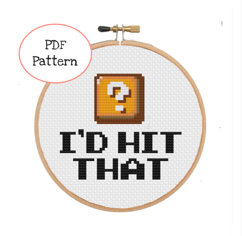 I'd Hit That Cross Stitch - PDF Instructions