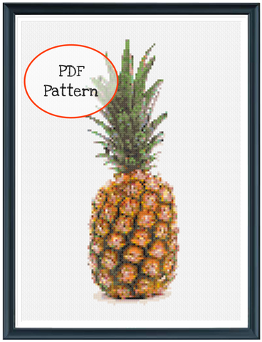 Pineapple Cross Stitch - PDF Pattern