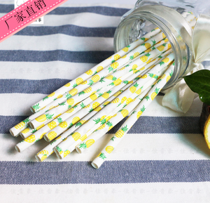 Pineapple Paper Straws - 25 Pieces