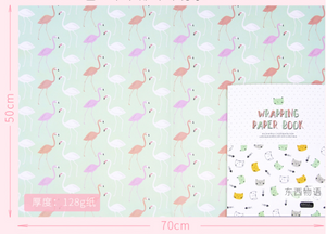 Vintage Floral Print Wrapping Paper - 3 Sheets
