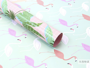 Pink Cactus Wrapping Paper - 3 Sheets