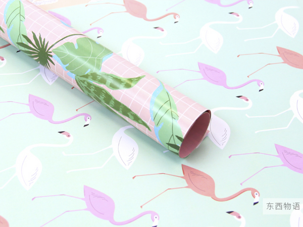 Pastel Roses Wrapping Paper - 3 Sheets
