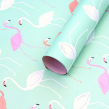 Seafoam Flamingo Wrapping Paper - 3 Sheets