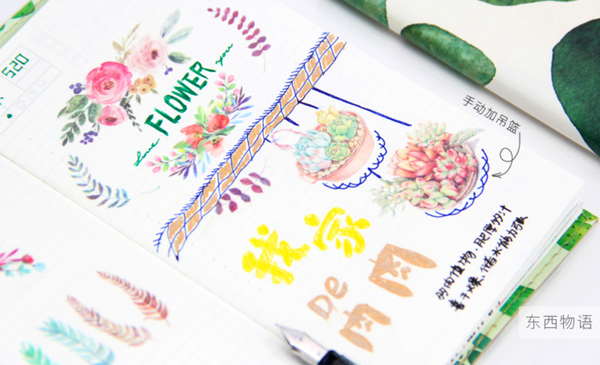 Watercolor Floral Washi Tape - 3cm