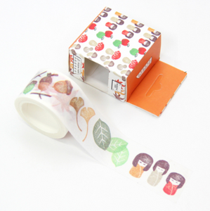 Autumn Leaves and Dolls Washi Tape - 3cm
