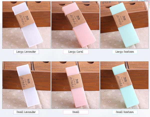Pastel Translucent Pencil Case - Choose Color, Size