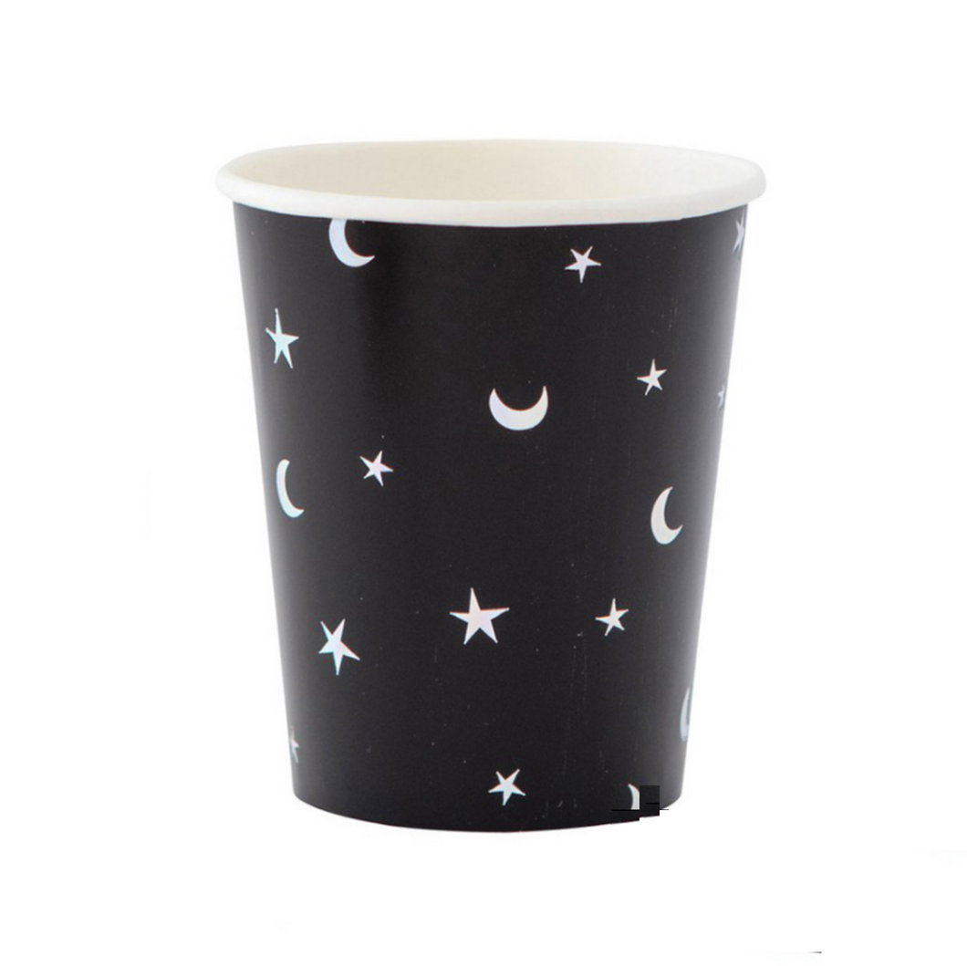 Starry Night Paper Cups - Set of 8