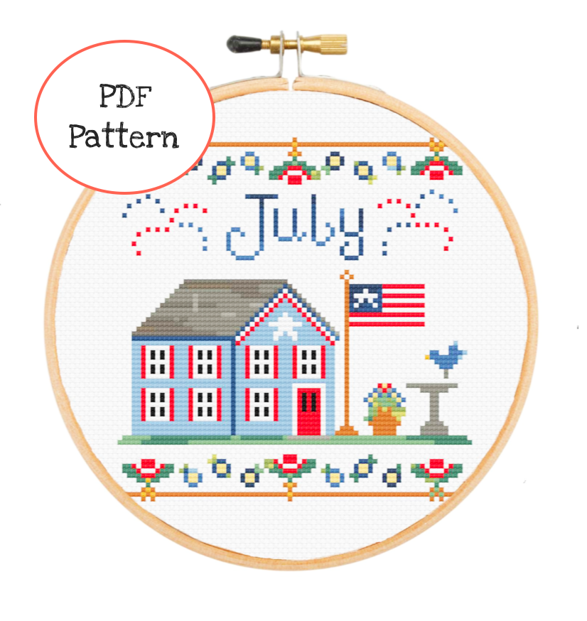 July 4th Cross Stitch - PDF Instructions