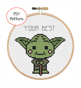 Yoda Best Cross Stitch - PDF Instructions
