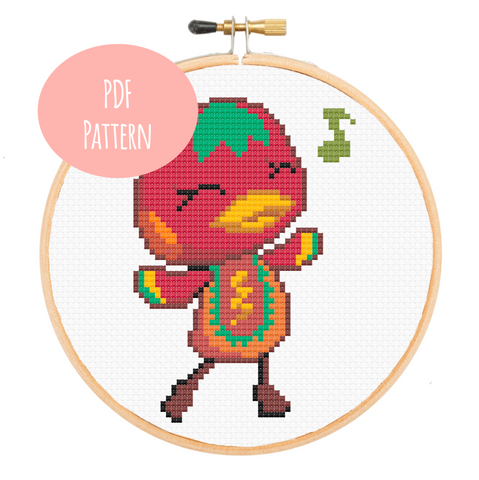 Ketchup from Animal Crossing Cross Stitch - PDF Instructions
