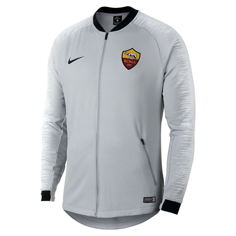 Nike Official 2018-2019 AS Roma Anthem Jacket 920062-014 Wolf Grey/Platinum