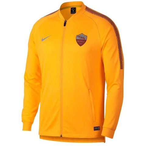 Nike Official 2018/19 AS Roma Dry Squad Jacket 919977-739 Yellow