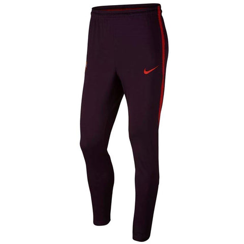 Nike Official 2018/19 AS Roma Dry Squad Training Pants 919977-659 Burgundy/Red