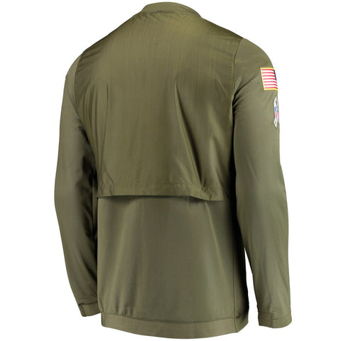 newest fee4d 4ce10 Nike NFL Pittsburgh Steelers Salute to Service Sideline Elite Hybrid  Full-Zip Jacket Olive