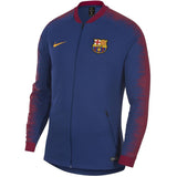Nike Official 2018-2019 FC Barcelona Anthem Jacket 894361-456 Royal Blue