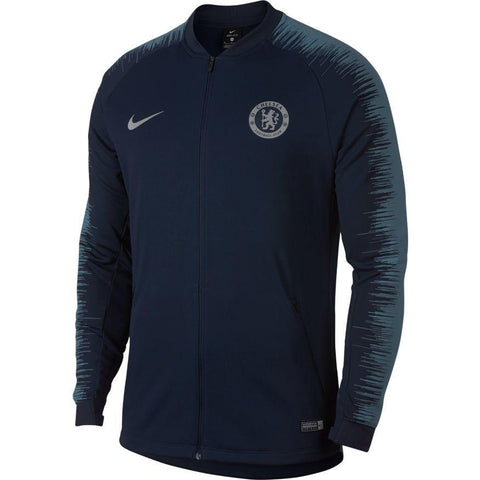Nike Official 2018-2019 Chelsea FC Anthem Jacket AA3330-455 Obsidian