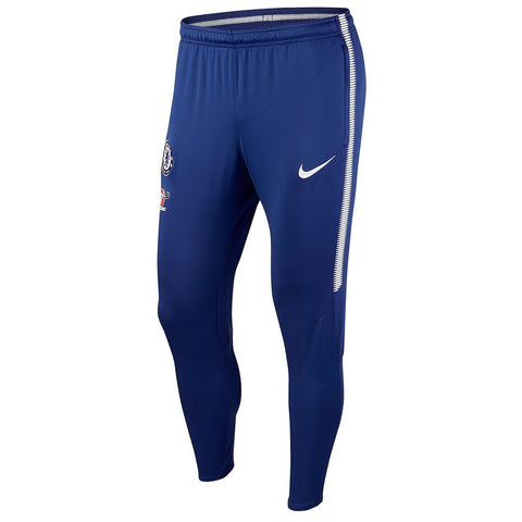 Nike Official 2017/18 Chelsea Dry Squad Pants 905450-453 Rush Blue/White