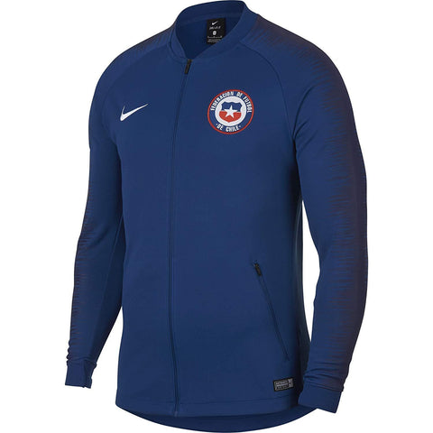 Nike Official 2018-2019 Chile National Team Anthem Jacket 893586-431 Blue