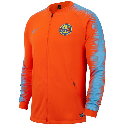 Nike 2019/20 Club America Anthem Jacket 920053-819 Orange/University Blue