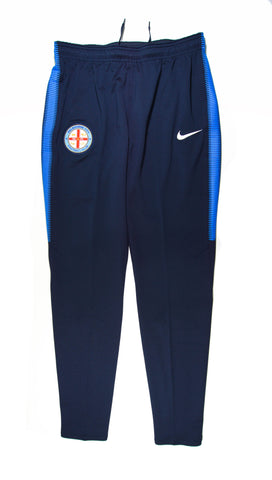 NIKE Authentic Melbourne City FC Dry Squad Training Pants Home 2017 - 2018