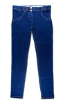 Women's Authentic Freddy WR.UP Dark Blue Denim Yellow Stitching WRUP1RJ1E Mid Waist
