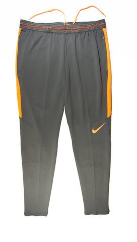 NIKE Authentic Dry Strike Training Pants Grey Orange