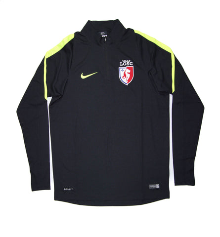 NIKE Official LOSC Lille Squad Drill Quarter Zip Midlayer Jacket