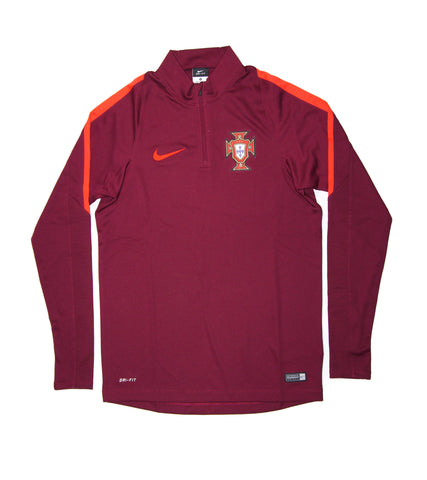 NIKE Official Portugal EURO 2016 Squad Drill Quarter Zip Midlayer Jacket