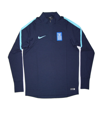 NIKE Official Greece National Football Squad Drill Quarter Zip Midlayer Jacket