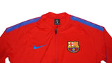NIKE Official 2017-2018 FC Barcelona Dry Squad Jacket 854341-660 Red