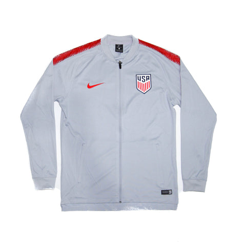 NIKE Official 2018-2019 USA National Team Dry Squad Jacket Grey